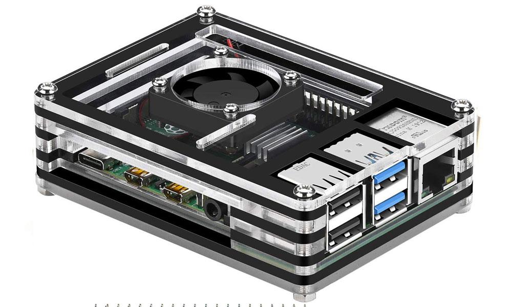GeeekPi Acrylic Case for Raspberry Pi 4 Model B